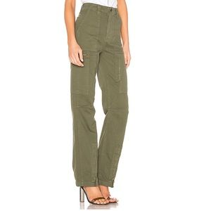 Re/Done Size 24 Army Green High Rise Cargo Pant